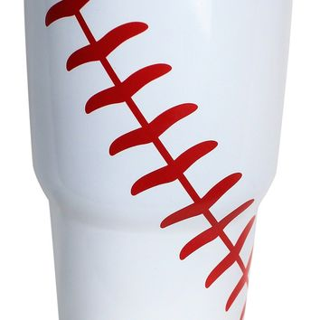 Baseball Tumbler 30 OZ Stainless Steel Hot Cold Tumblers Gifts