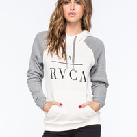 Rvca Substance Womens Raglan Hoodie White Combo  In Sizes