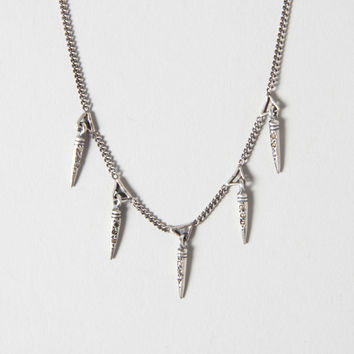 "CHAN LUU 17"" .16ct Champ Diam Pendant Necklace in Silver"
