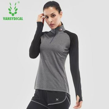 Dry Fit Gym Women Running T-shirt Long Sleeve Top Excercise Tshirt Training Sportswear Athletic Compression Shirt