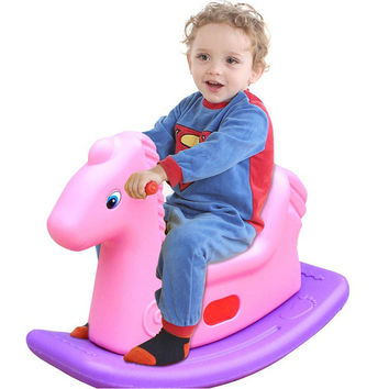 2016 High Quality New Rollaround Child Rocking Horse Baby Ride on Animal Toy 3 Color Free Shipping