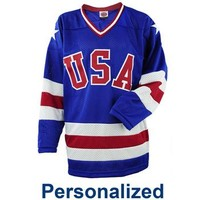 Miracle on Ice® USA Hockey 1980 Replica Personalized Away Jersey - ShopUSAHockey.com