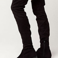 YOKI Lace Up Womens Over The Knee Boots