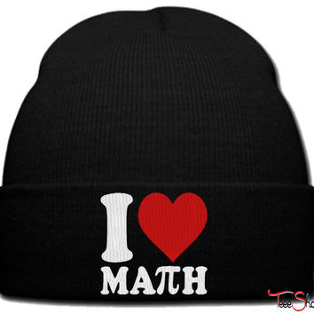 I8 LOVE MATH_PXF beanie knit hat