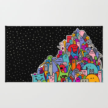 Pile of Monsters Rug by Alliedrawsthings | Society6