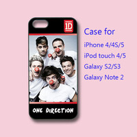 1D one direction - cute iPhone 4 case, iPhone 5 case, ipod touch case , galaxy s3 case , galaxy note 2 case