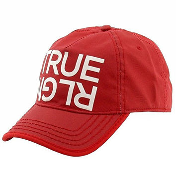 True Religion Logo Baseball Cap, One Size Fits All, Red