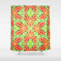 Sphynx Cat Pattern Shower Curtain by Chobopop