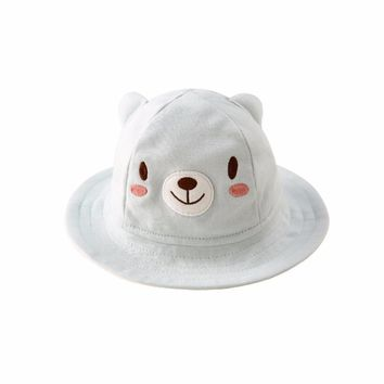 Pureborn Caps for Girl Baby Bucket Hat Child Boy Newborn Photography Props Cute Catoon Cat Bonnet Enfant Kids Infant Spring 2018