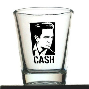 Johnny Cash Man In Black Shot Glass LIMITED EDITION