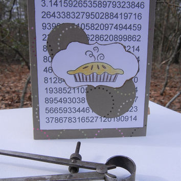 Pi Day Card - Celebrate March 14 with some Fun! Circle Design, First Part of the Mathematical Formula for Pi