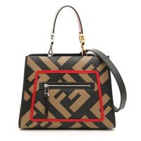 Red Outline FF Logo Purse by Fendi