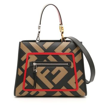 Leather Shopping Bag by Fendi