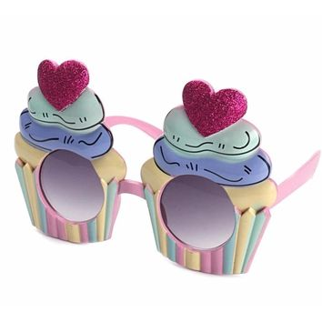 Cupcake Halloween Costume Glasses