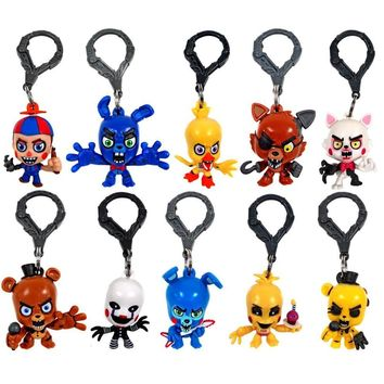 """Original  Key Chain  At Freddy 3"""" Figure Hangers Collector Clip Set Of 10 Toys"""