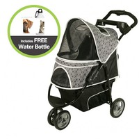 Black Onyx Promenade Pet Stroller with Free Water Bottle