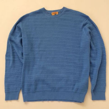 Tricot St. Raphael Men's Lux Textured Crewneck Lima Cotton Sweater