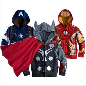 Trendy Avengers Iron Man Children Boys Jacket Hooded Sweatshirt Girls Coat Spring Autumn Coats Kids Long Sleeve Outerwear Girls Clothes AT_94_13