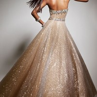 Strapless Embellished Dress by Tony Bowls Le Gala
