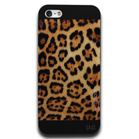 LEOPARD LUX PHONE CASE BLACK