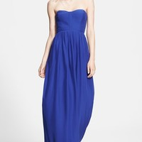 Women's Parker 'Bayou' Strapless Silk Maxi Dress