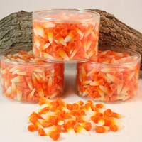 Halloween Candy Corn Tart Candles Scented in Sweet Candy Corn, Wax Fake Food, 13 ounces
