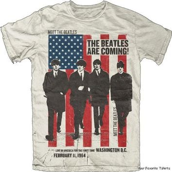 Licensed The Beatles Are Coming Adult Shirt S-XXL