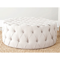 Tan Dylan Tufted Ottoman
