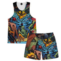Bird Brain Tank and Shorts Rave Outfit