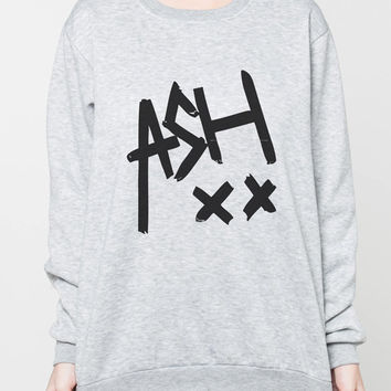 Ashton Irwin 5SOS Five Seconds of Summer Shirt Sweater Shirts Women Grey Sweatshirt T-Shirt Unisex Jumper Size S M L