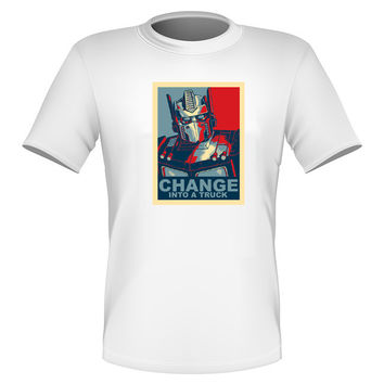 Brand New Fun Transformers T-shirt Optimus Prime Autobots All Sizes CHANGE