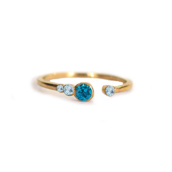 Blue Topaz Brittany Ring