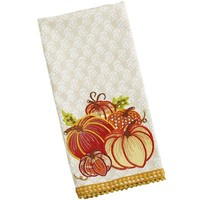 Pumpkin Applique Tea Towel