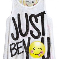 POSITIVE MESSAGE TANK | GIRLS TOPS CLOTHES | SHOP JUSTICE