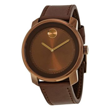 Movado Bold Brown Dial Unisex Watch 3600377