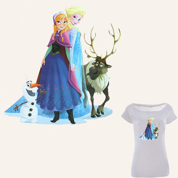 Hot Pyrograph Lovely Princess Patches For Clothing Ironing Stickers Best Christmas Gift For Children Heat Transfer Appliques