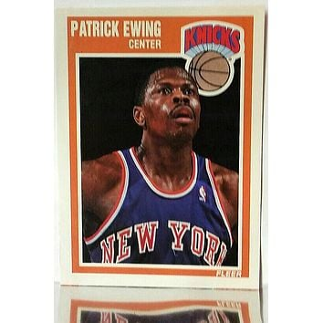 1989 Fleer # 100 Patrick Ewing, Center, New York Knicks, Mint