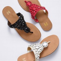 Beaded Lace Flat
