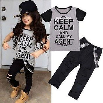 New Baby clothes sets girls clothing sets baby boy clothes set Short Sleeve +Bib pants
