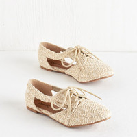 ModCloth Menswear Inspired Impromptu Good to Be True Flat in Cream