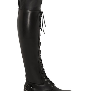 Dolce & Gabbana - Leather over-the-knee boots