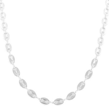 Silvertone 8mm 24 Inch Pig Nose Chain Necklace