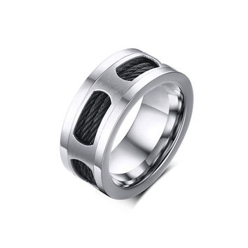 10mm Stainless Steel Vintage Men Ring  Jewelry