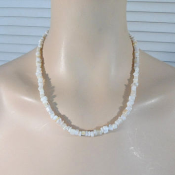 Mother of Pearl Necklace Hippie Choker Boho Bohemian Style Jewelry Gypsy Cowgirl Glam Adjustable Hippie Wedding Boho Bride Bridesmaid