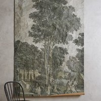 Gathering Field Tapestry by Anthropologie in Moss Size: One Size Wall Decor