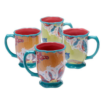 Tracy Porter® For Poetic Wanderlust® 'Scotch Moss' Coffee Mugs (Set of 4)