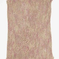 Plum & Bow Fade-Out Knit Throw Blanket- Red One