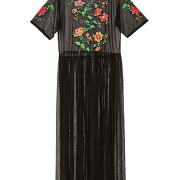 EMBROIDERED TULLE TUNIC DETAILS