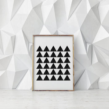 Watercolor Black Triangles,Geometric Print,Geometric Art,Abstract Design,Abstract,Home Decor Gallery Wall,Wall Decor,Digital Art,Triangle