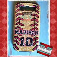 Custom Personalized Softball Team iPhone 5 4s 4 Samsung Galaxy s3 Phone Case